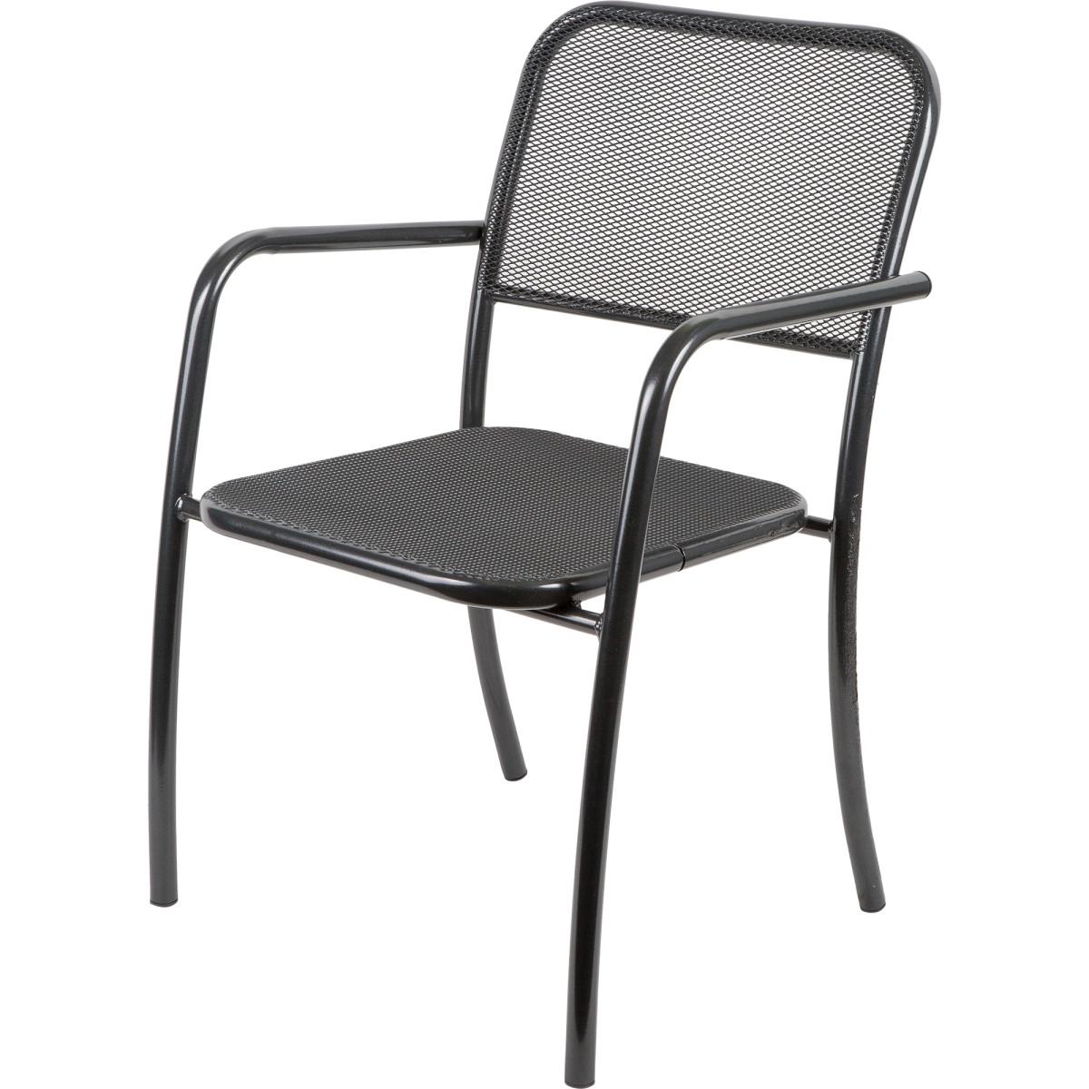 Кресло Садовое Романс 63Х54Х92 Металл Черный/Бежевый