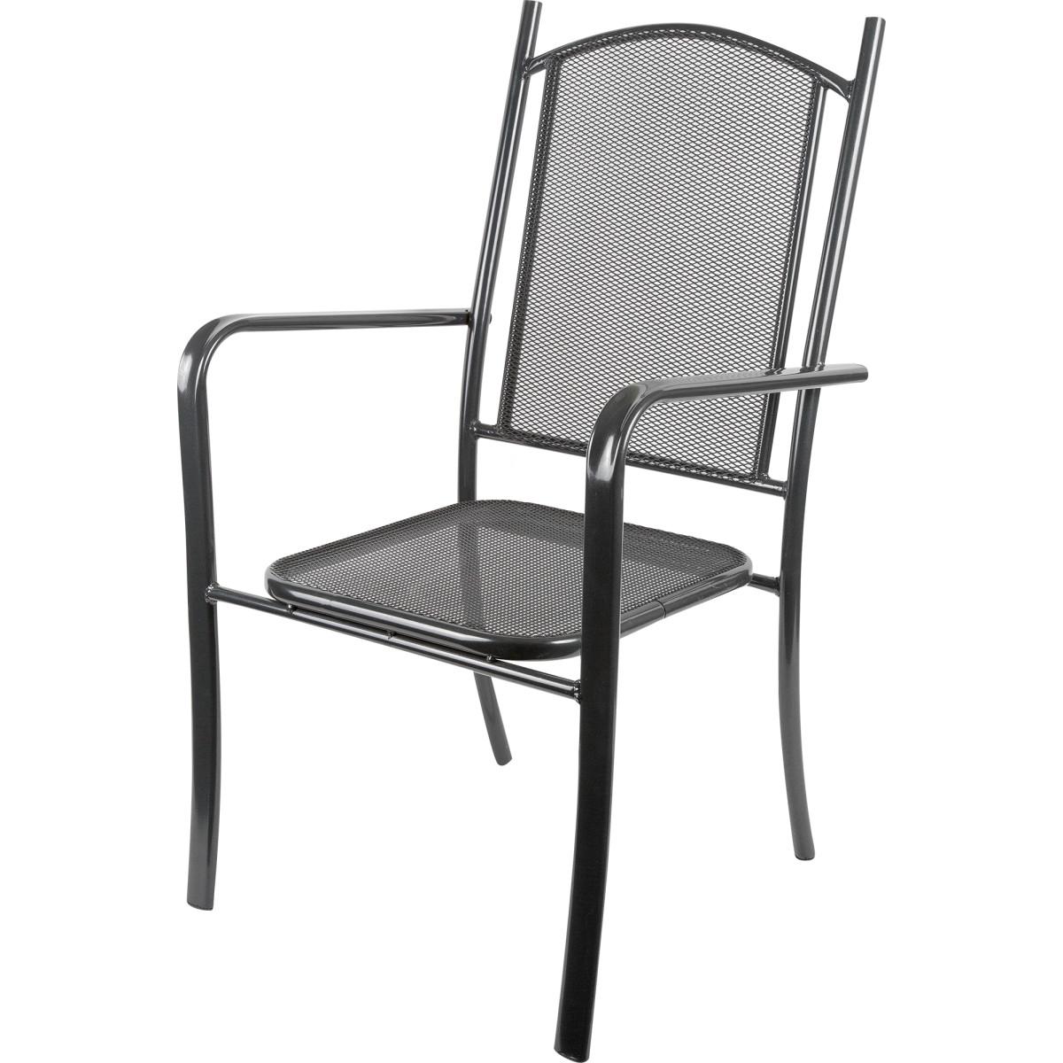 Кресло Садовое Ницца 65Х57Х100 Металл Черный/Бежевый
