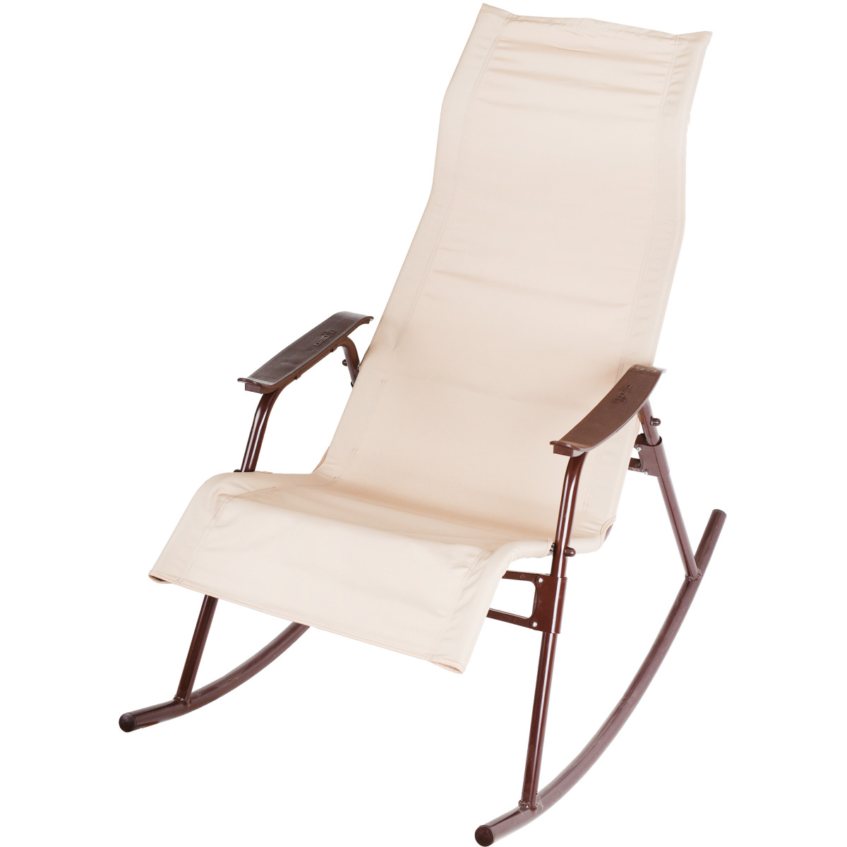 Кресло-качалка Нарочь 110х62х94 см металл коричневый/бежевый