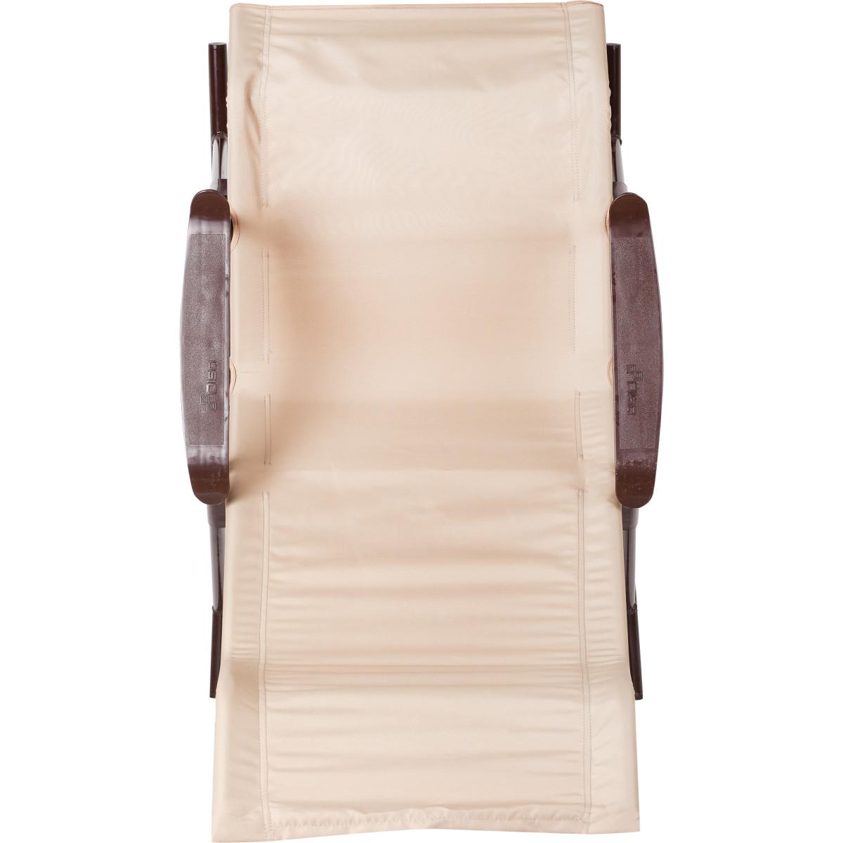 Кресло-Качалка Нарочь 110Х62Х94 Металл Коричневый/Бежевый