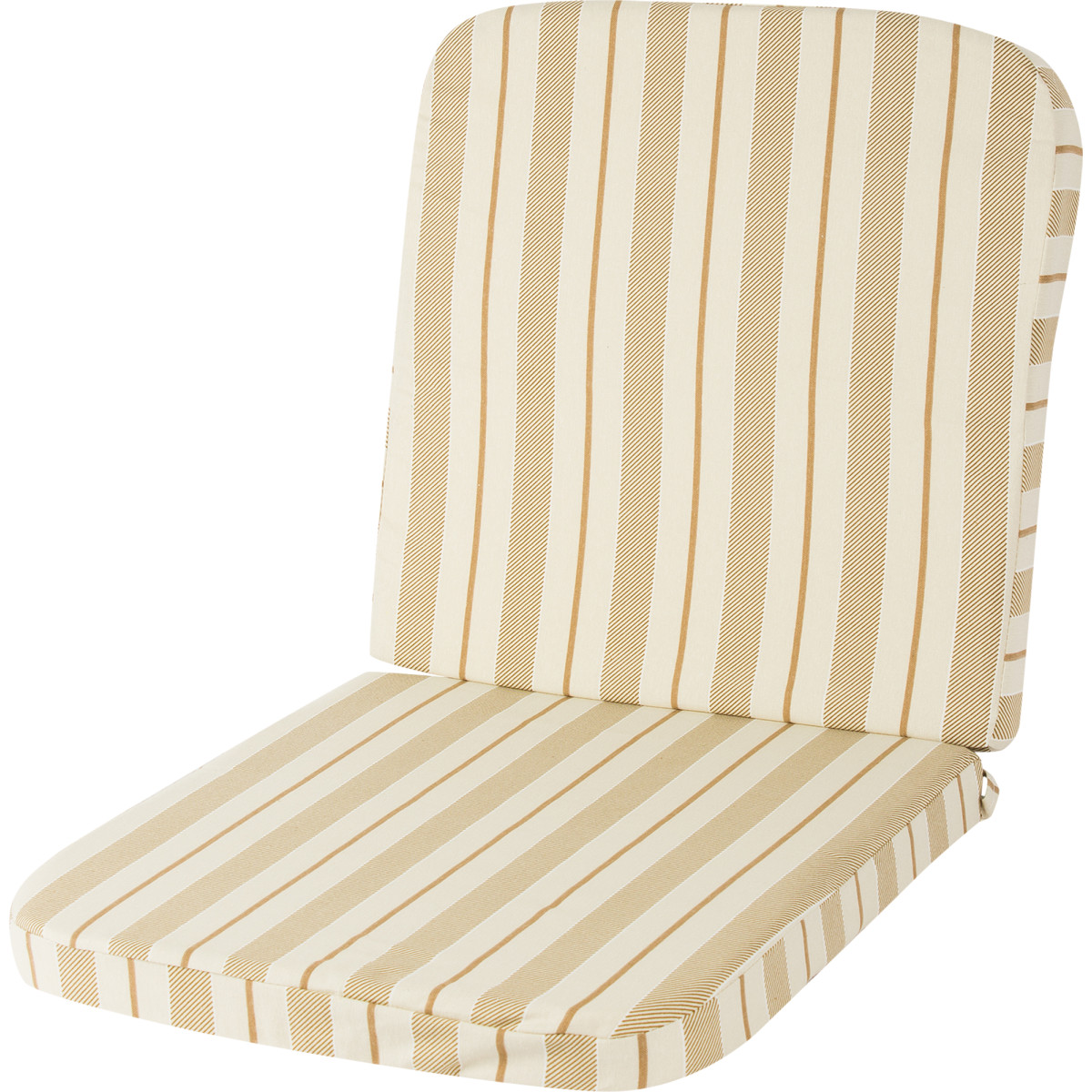 Подушка на кресло Романс поликоттон бежевые полоски