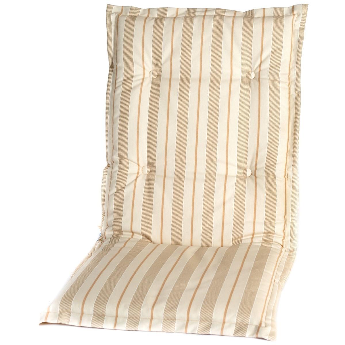 Подушка на кресло Ницца поликоттон бежевая полоска