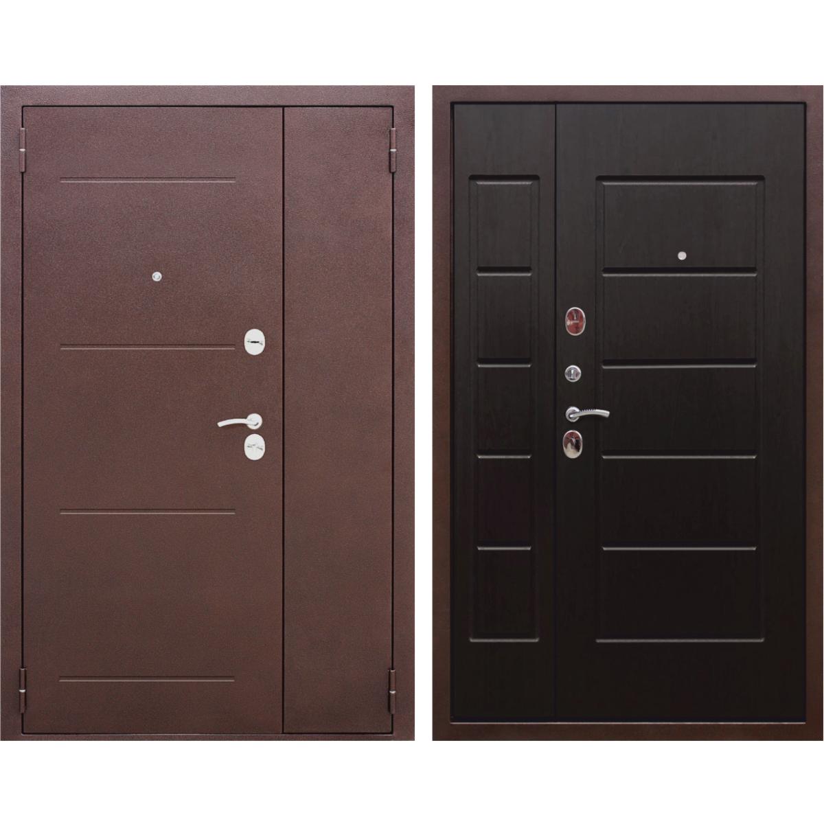 Дверь входная металлическая Гарда 7.5 см 1200х2050 мм левая цвет венге