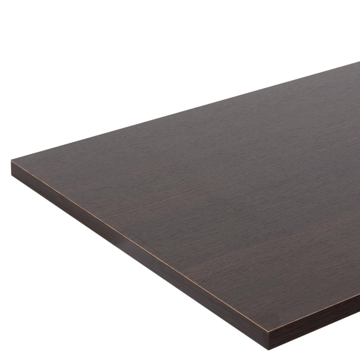 Деталь мебельная 1200x400x16 мм ЛДСП дуб термо темный кромка со всех сторон