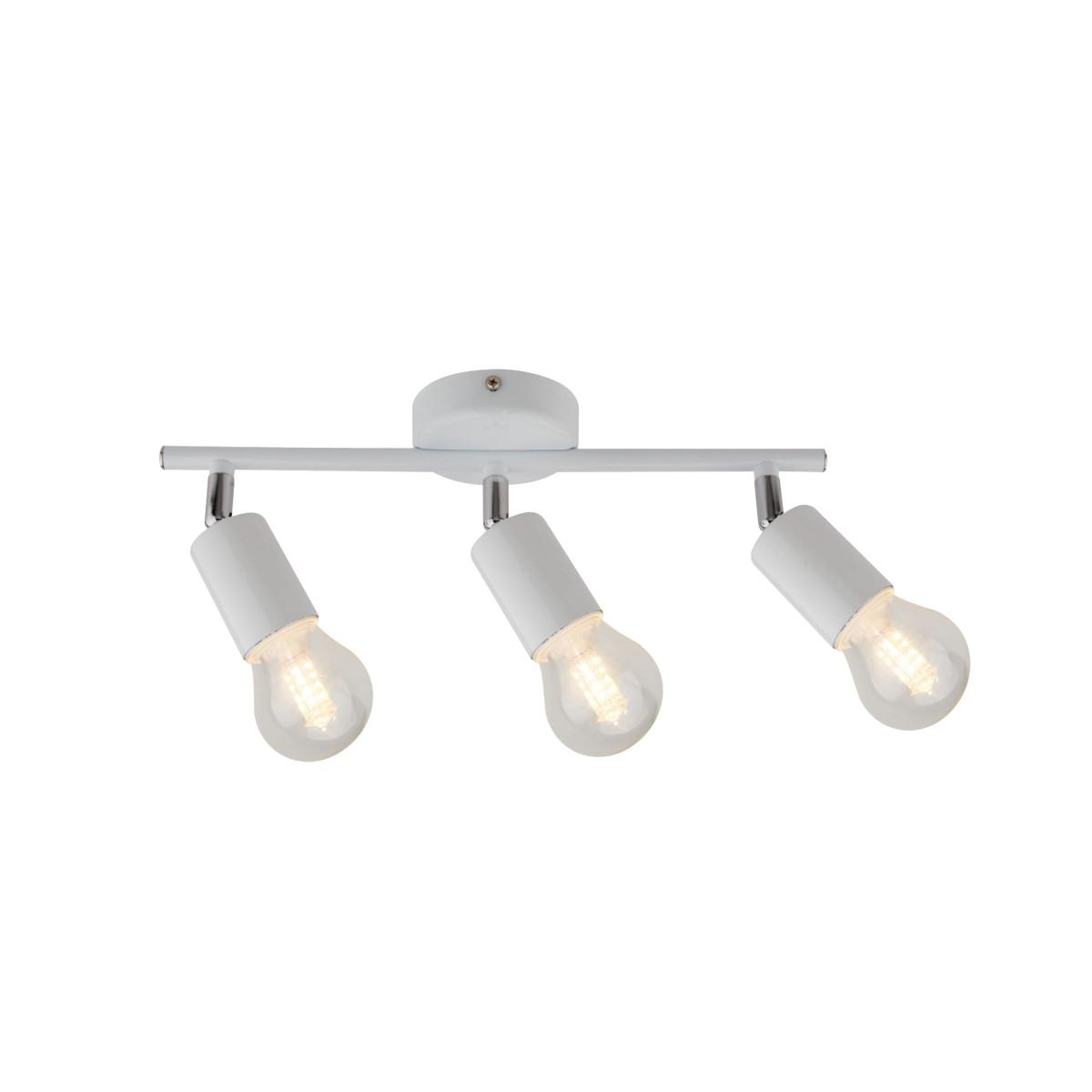 Спот поворотный Basico 3 лампы 9 м² цвет белый