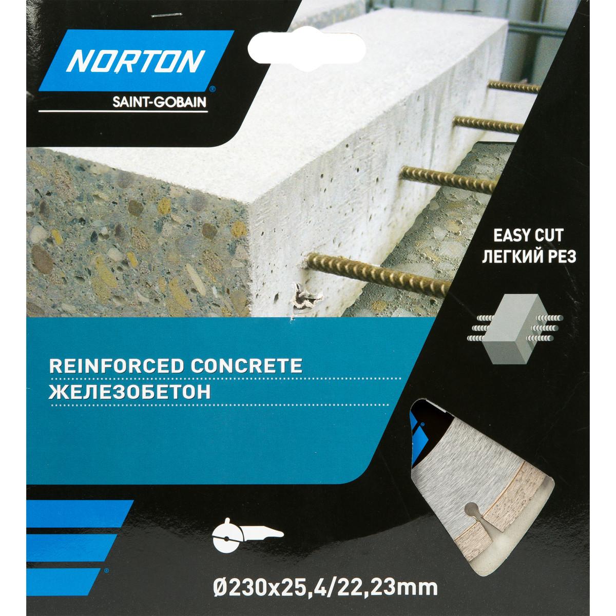 Диск Алмазный По Железобетону Norton 230Х222