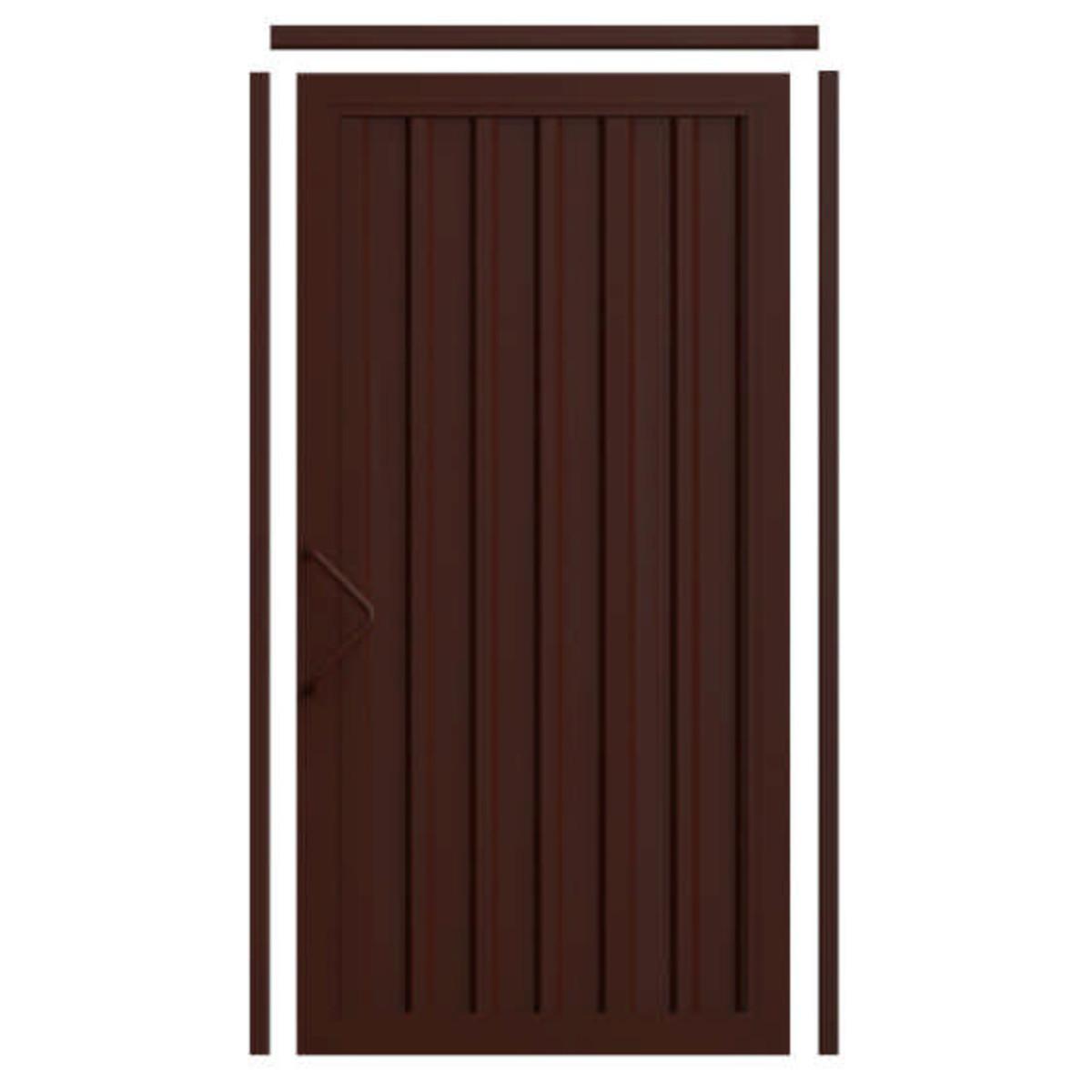 Комплект для калитки Doorhan «Revolution» 1.36х2.2 м цвет шоколадно-коричневый