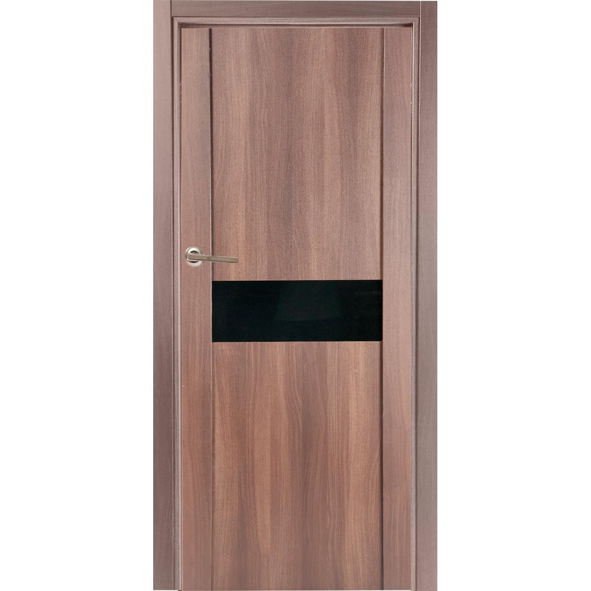 Дверь межкомнатная остеклённая Artens Велдон 90x200 см цвет мокко без фурнитуры