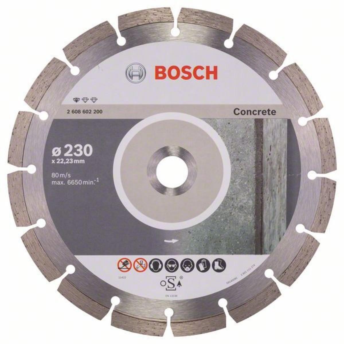 Диск Алмазный По Бетону Bosch Standart 230x2223