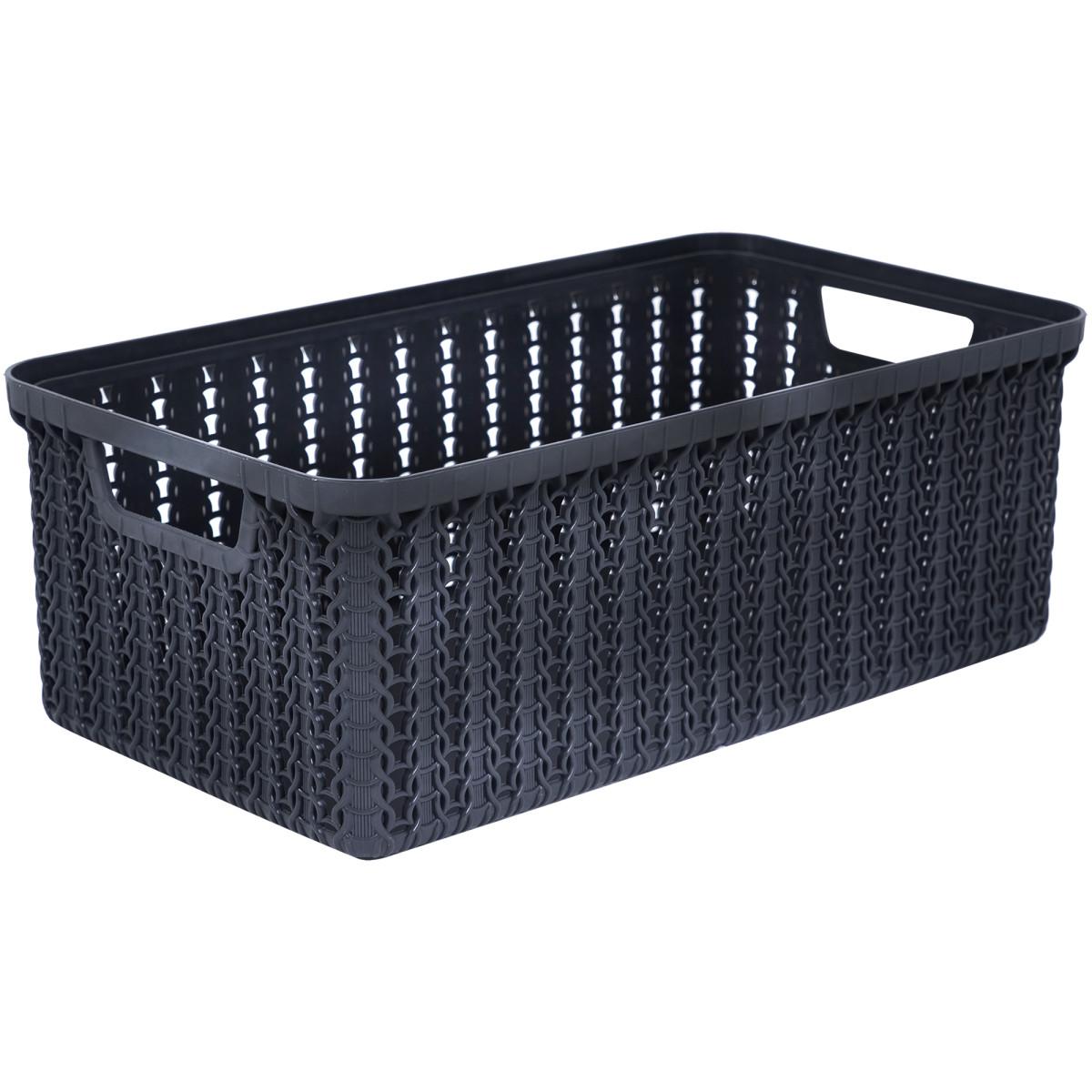 Коробка для хранения Вязание 3 л цвет графит