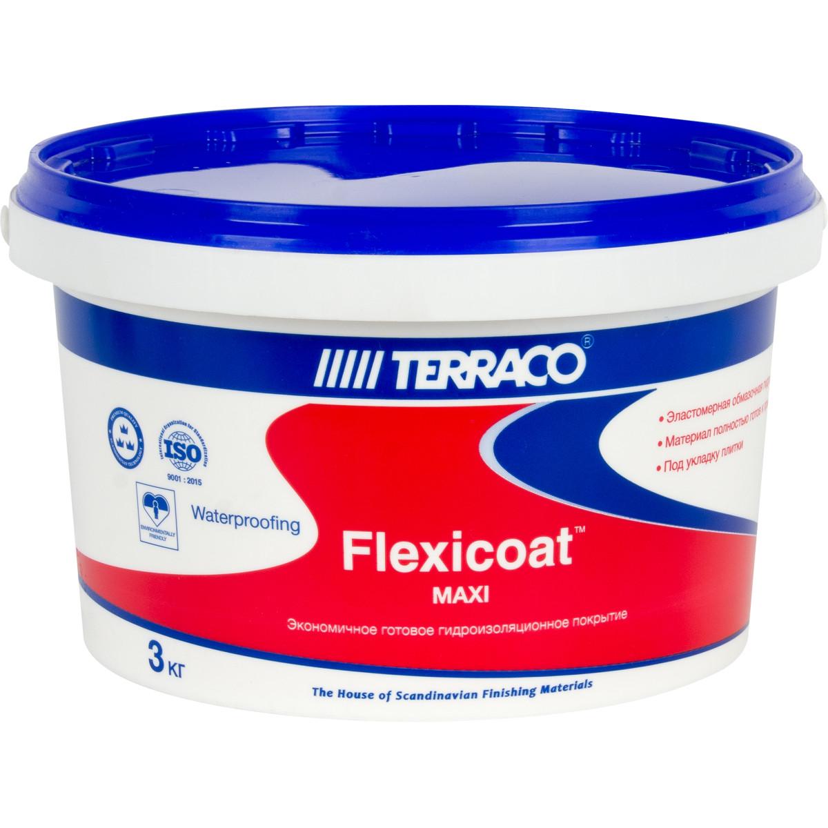 Гидроизоляция Terraco Флексикоат Maxi 3 кг
