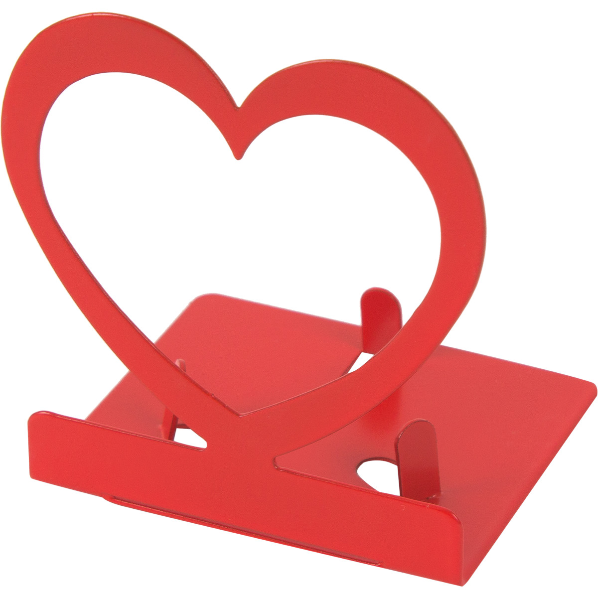Подсвечник для чайной свечи Сердце цвет красный
