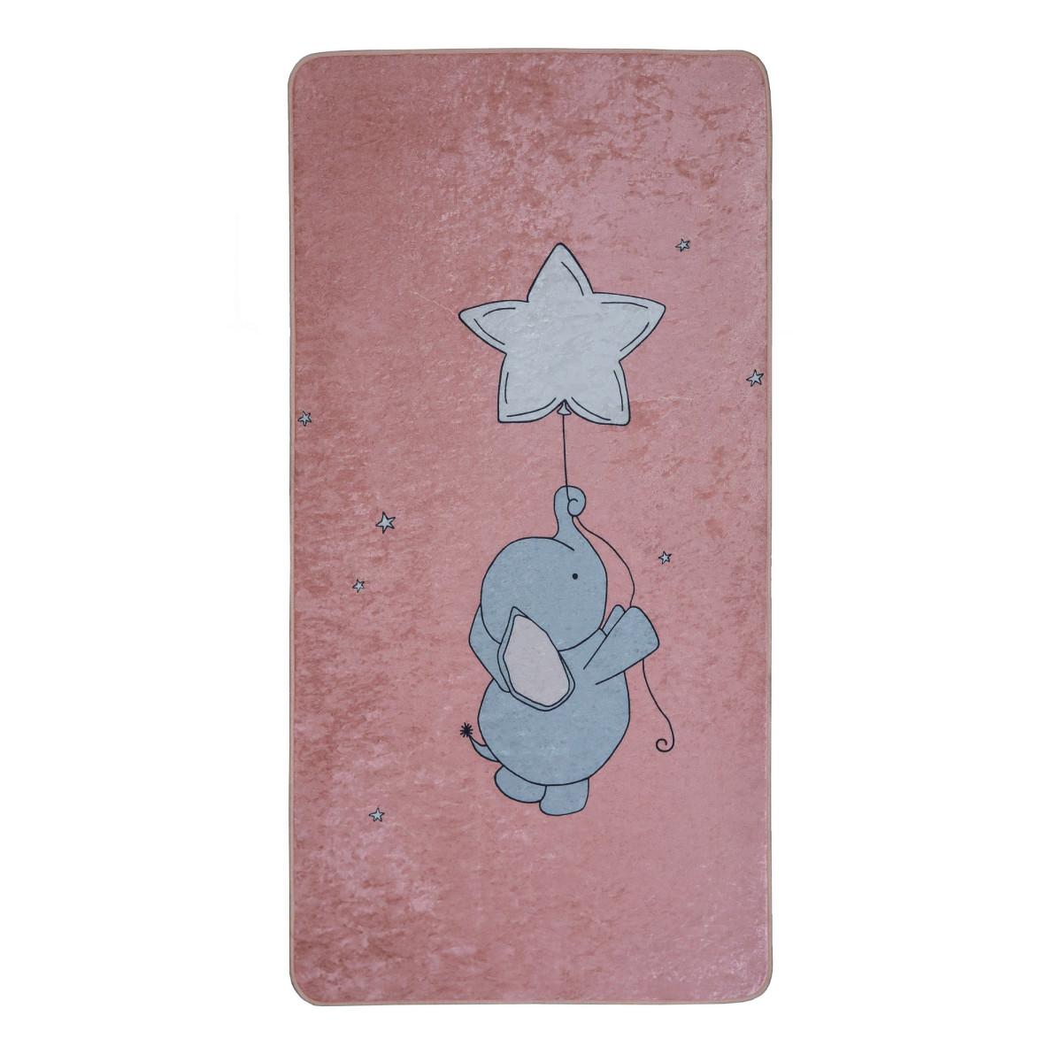 Ковер Kids Dream 01 0.7х1.4 м цвет розовый