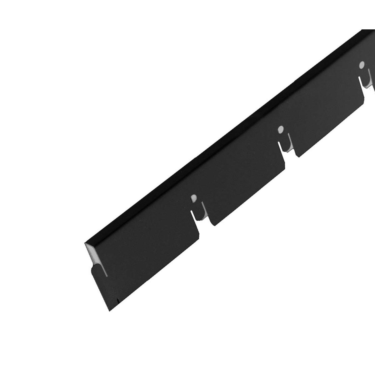 Рейка направляющая грильято Албес 75x75x40 мм черный 2.4 м
