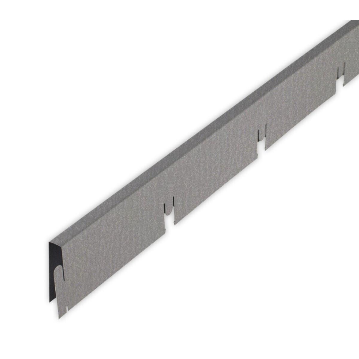 Профиль грильято Албес мама 100x100x40 мм серый 0.6 м