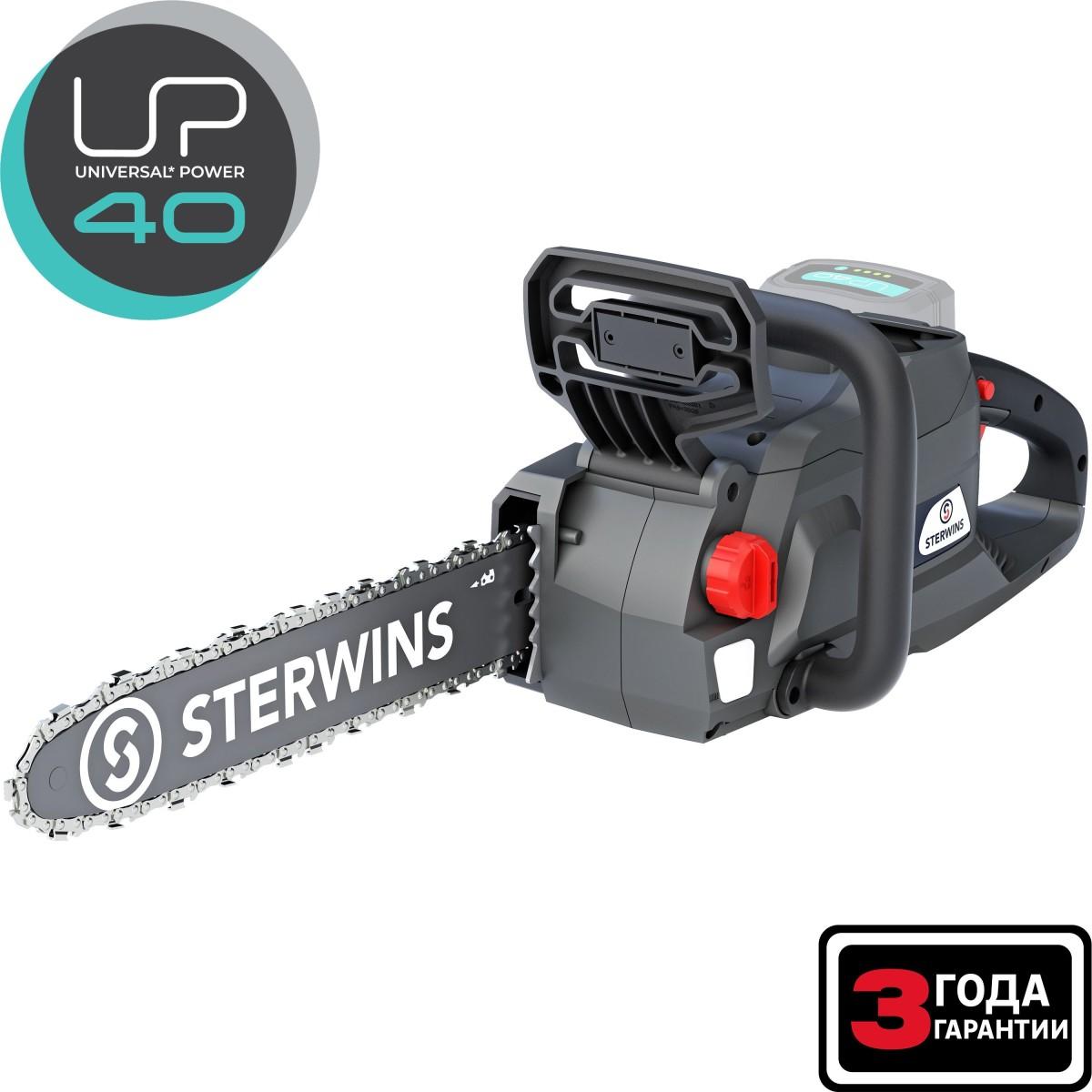Пила цепная аккумуляторная Sterwins 40 В шина 45 см (без АКБ и ЗУ)