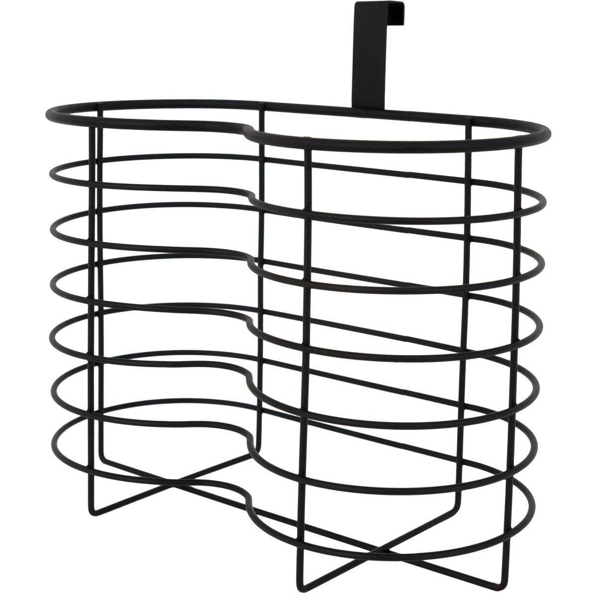 Органайзер для туалетной бумаги Ferro 4 рулона сталь цвет черный