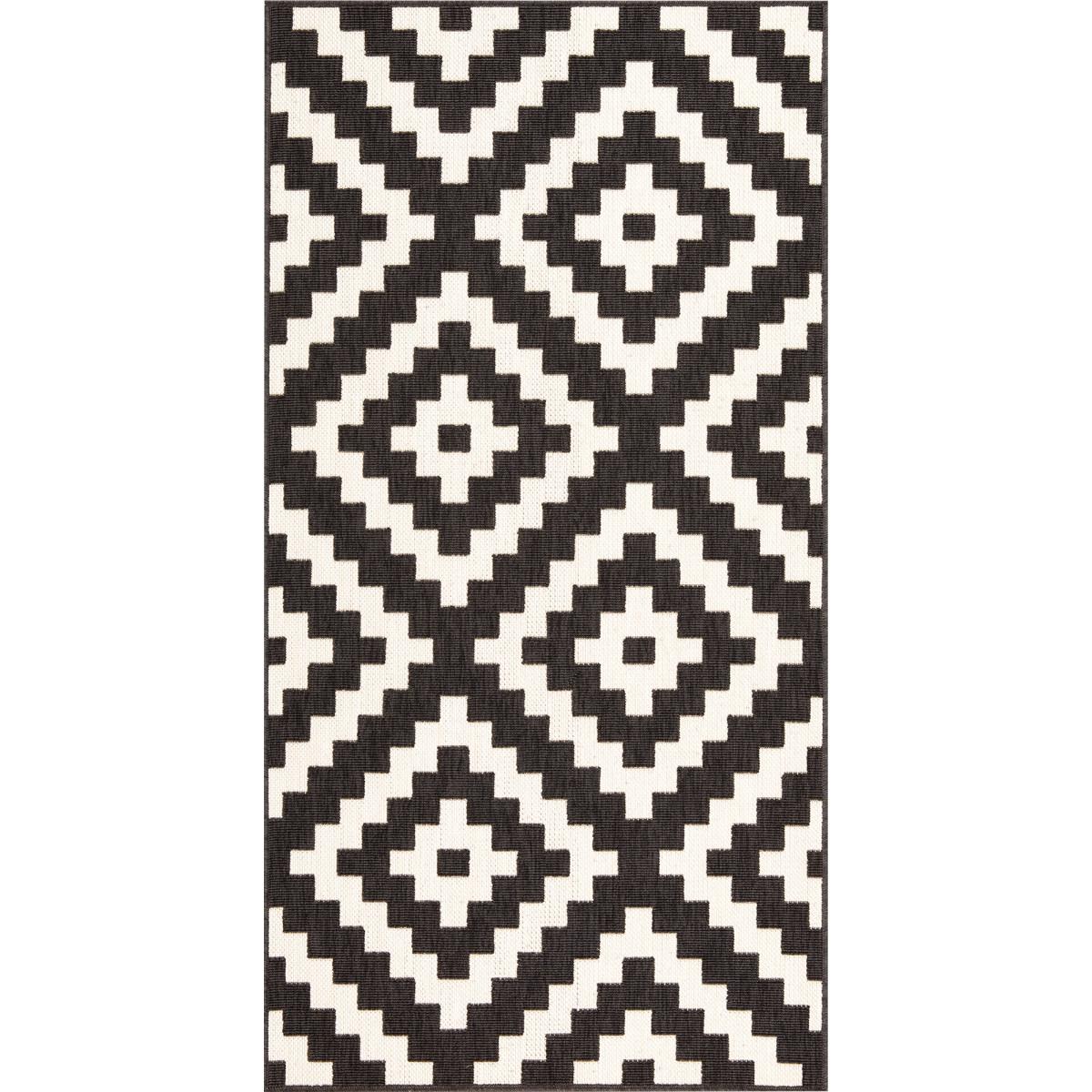 Ковёр Fenix 20454/993 0.8х1.5 м цвет чёрный