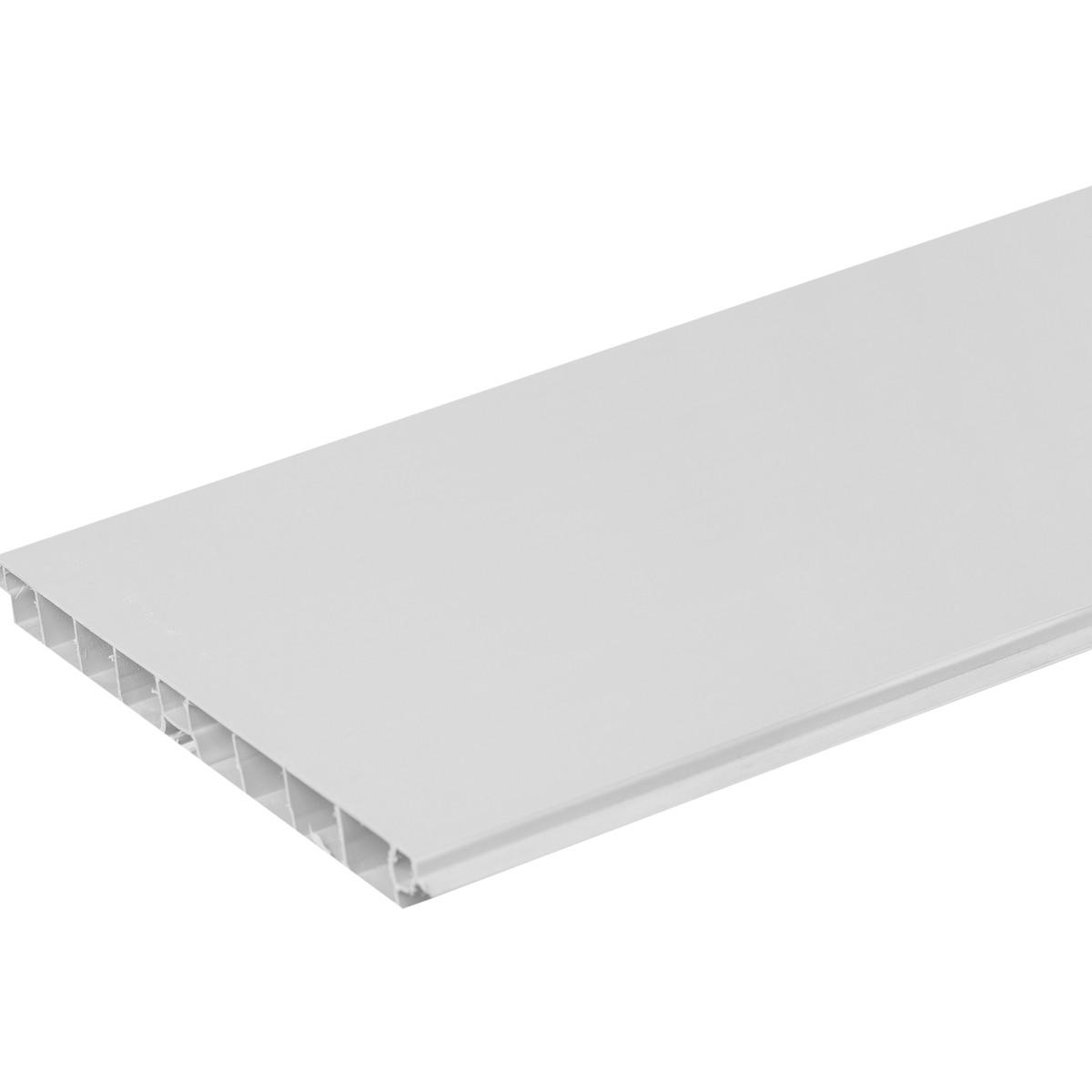 Цоколь для кухни 240х15 см ПВХ цвет серебро
