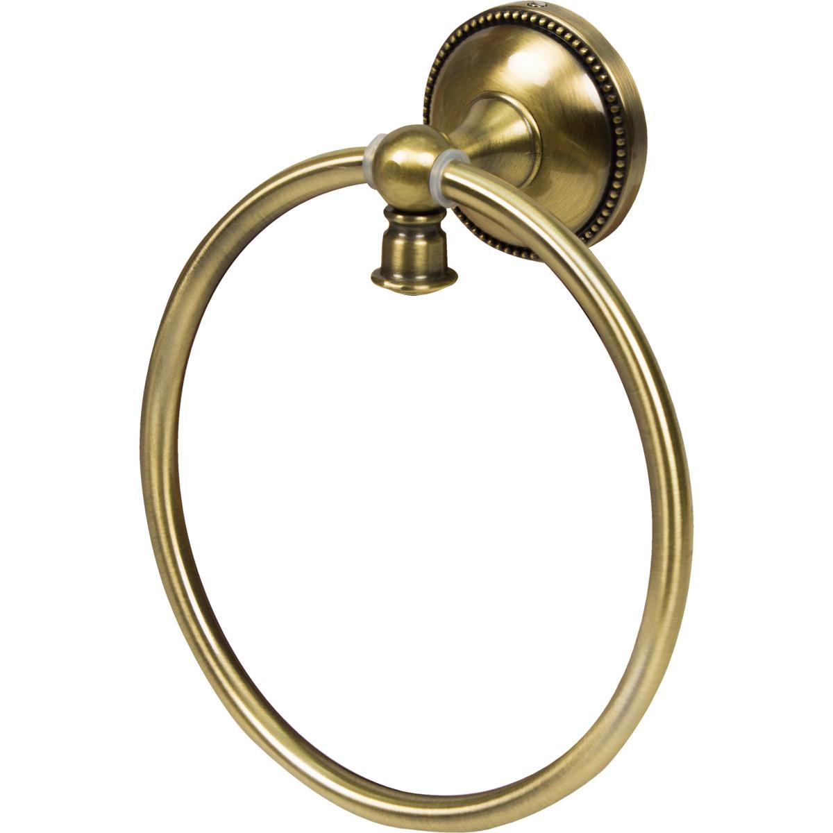 Держатель для полотенца кольцо Alfa цвет античная латунь