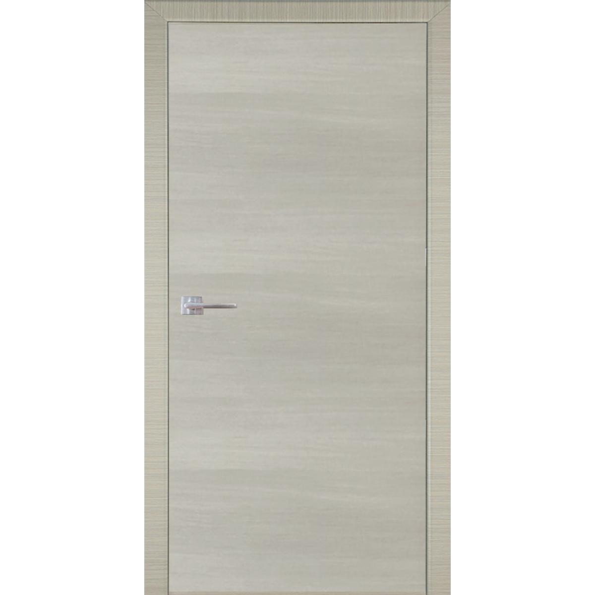 Дверь межкомнатная глухая 200х80 см ламинация цвет дуб дымчатый