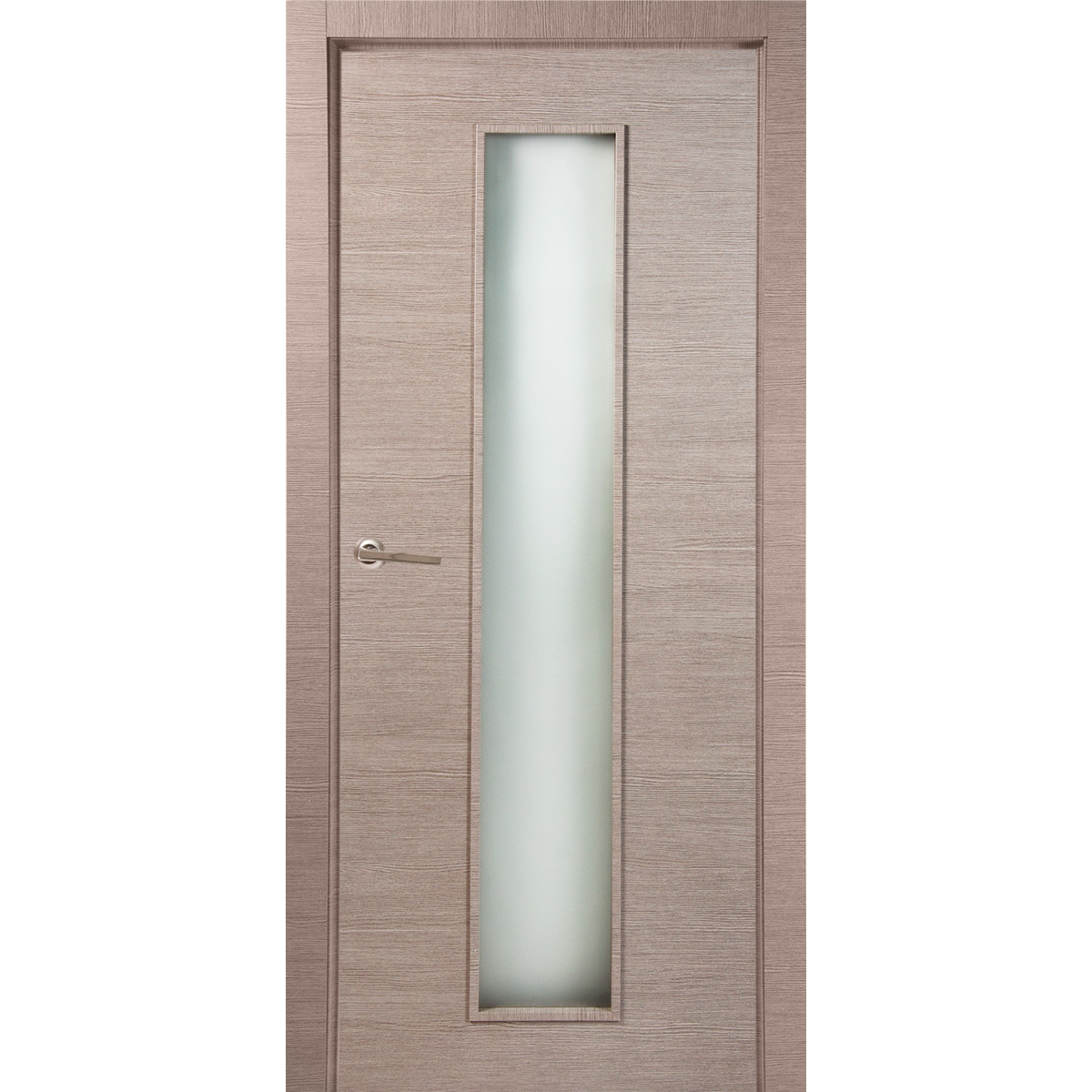 Дверь Межкомнатная Остеклённая 60x200 Ламинация Цвет Дуб Дымчатый