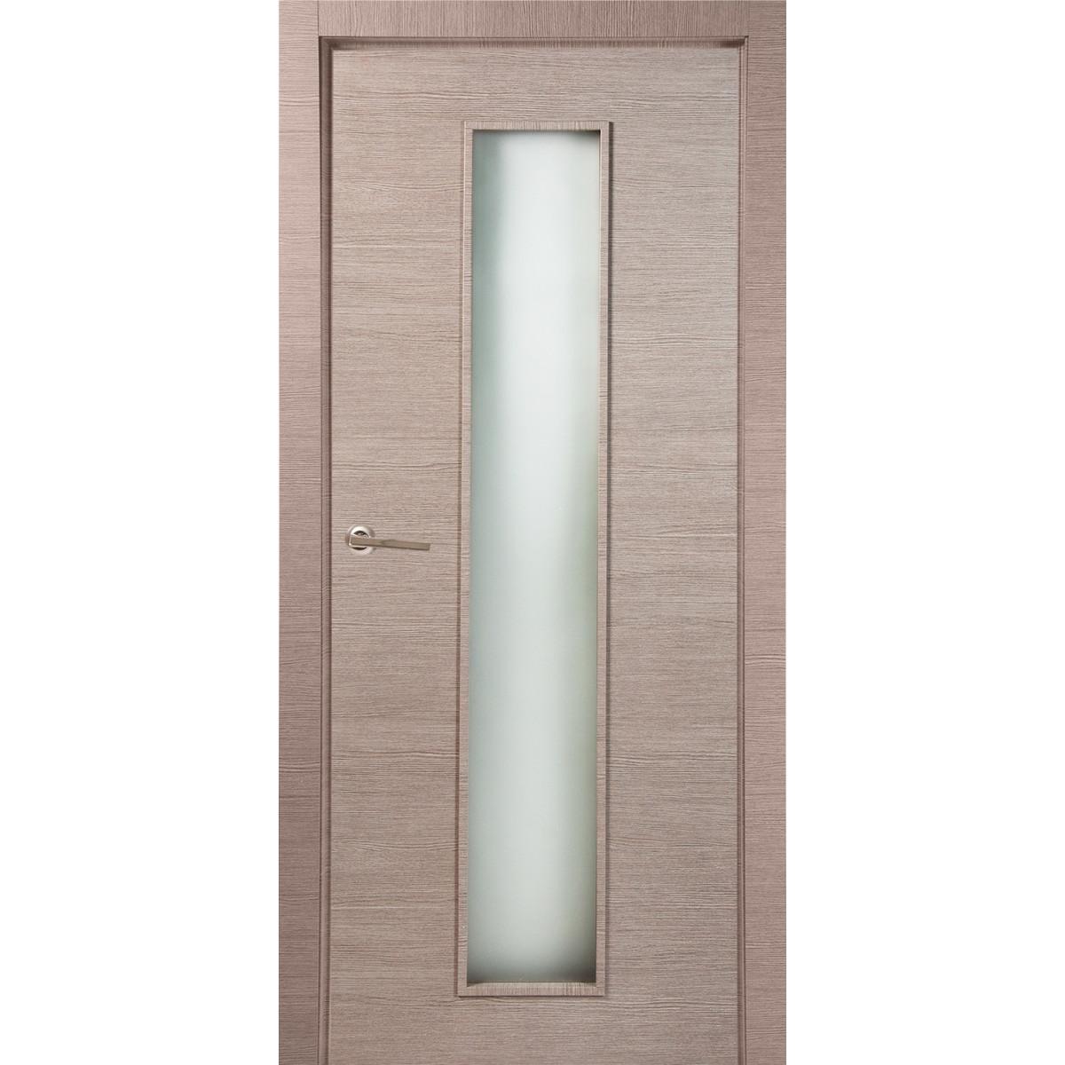 Дверь межкомнатная остеклённая 80x200 см ламинация цвет дуб дымчатый