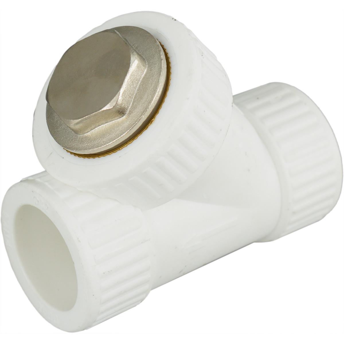 Фильтр косой внутренняя-внутренняя резьба 32 мм полипропилен
