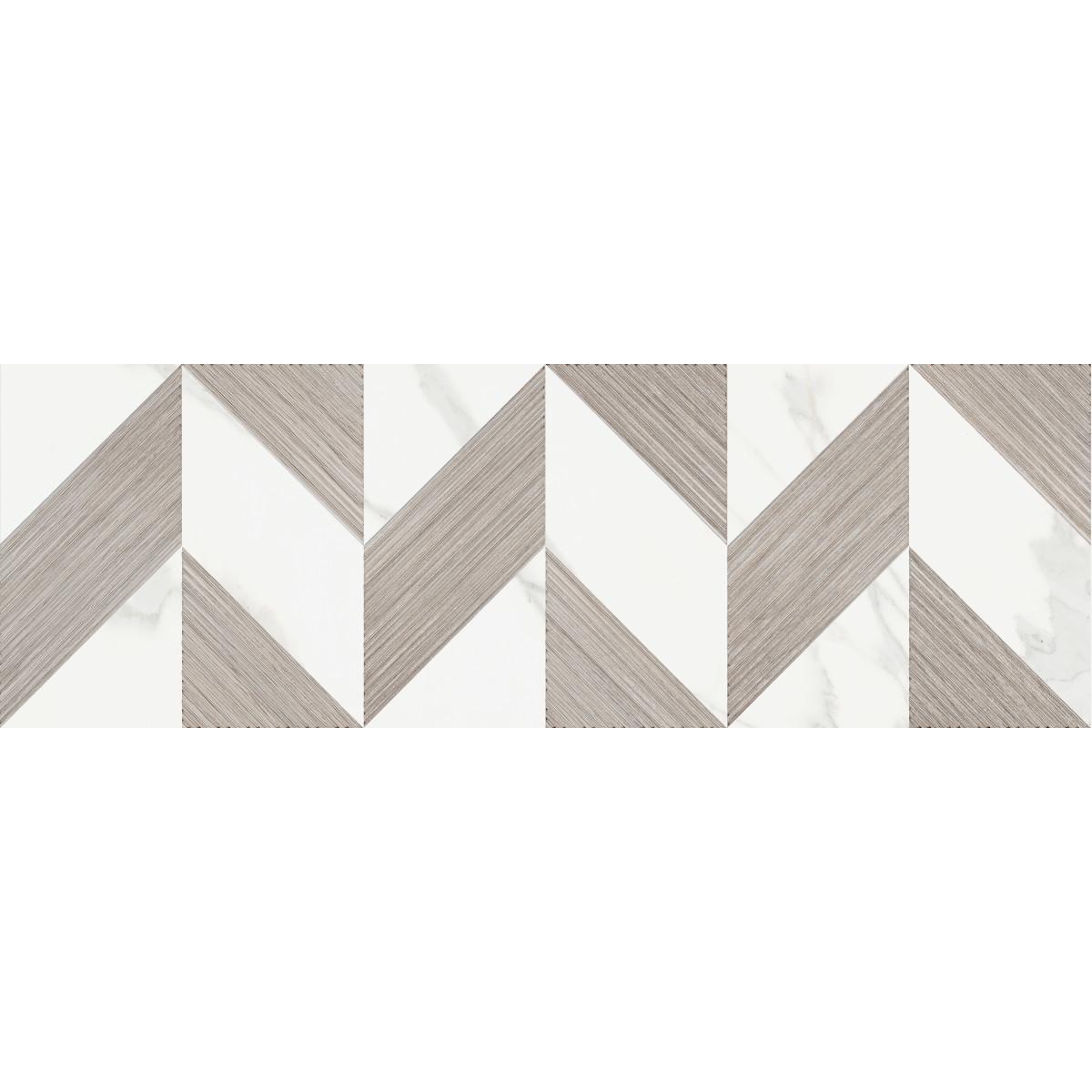Декор настенный Бьорк Шеврон 20x60 см цвет белый/коричневый