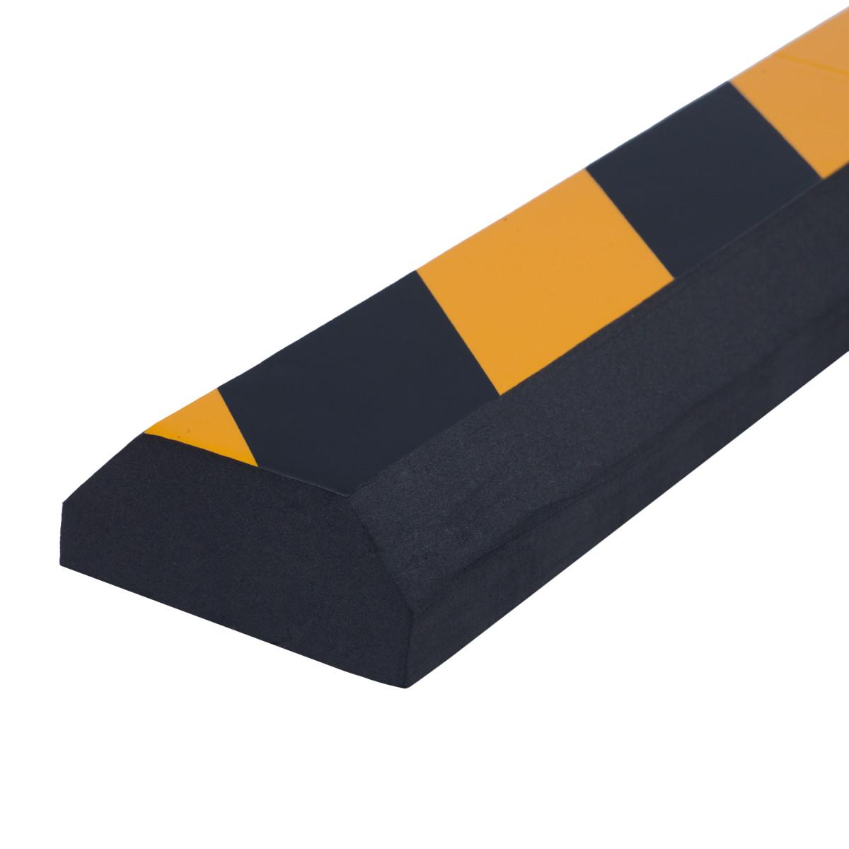 Демпфер для стен Standers мягкий 50x7 см цвет черный/желтый 2 шт.