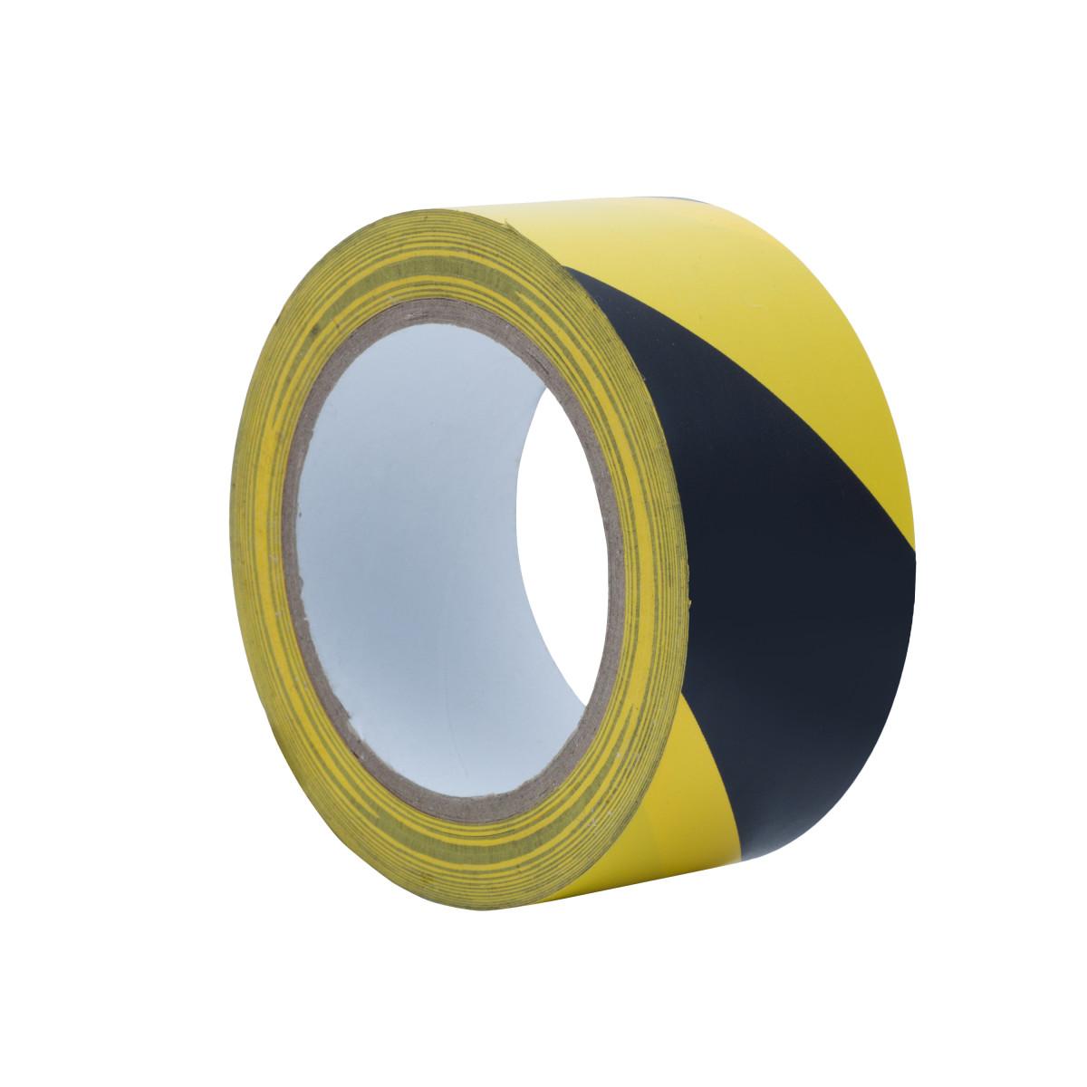 Лента разметочная Standers самоклеящаяся 50 мм x 33 м цвет чёрный/жёлтый