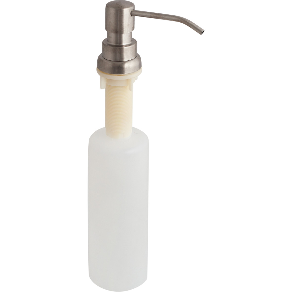Дозатор для жидкого мыла врезной цвет прозрачный
