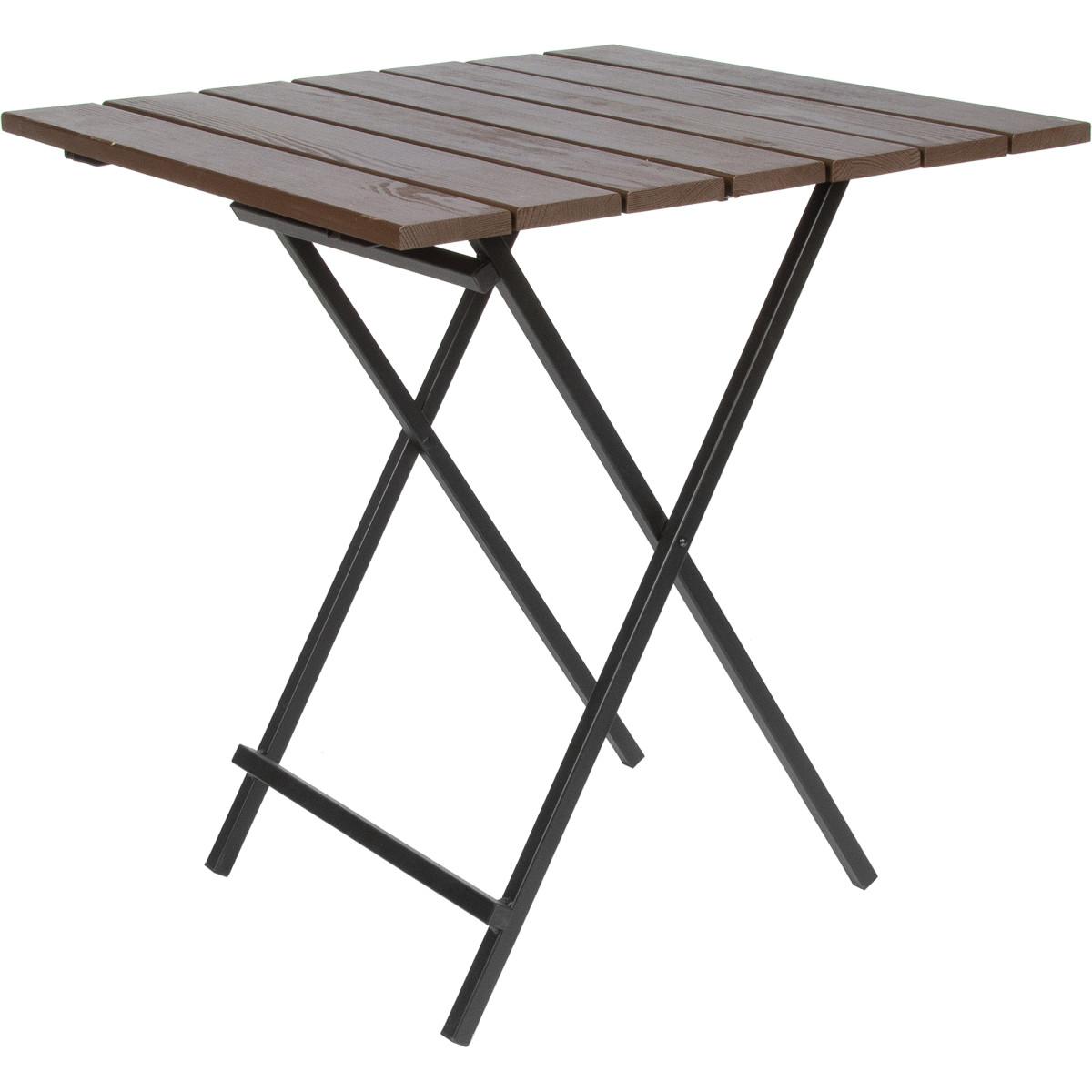 Стол садовый складной Ego 166-8 70х70х74.5 см массив сосны/сталь