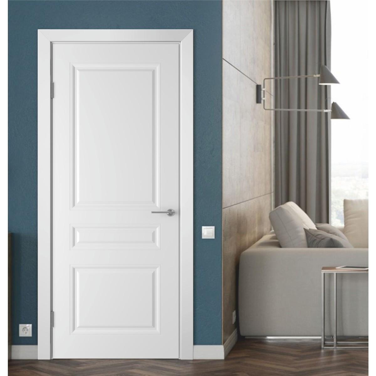 Дверь Межкомнатная Глухая Стелла 90x200 Эмаль Цвет Белый