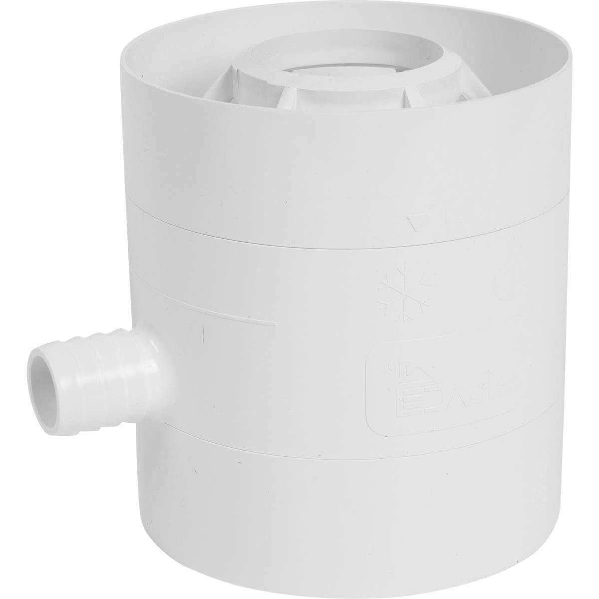 Водосборник Dacha 80 мм белый