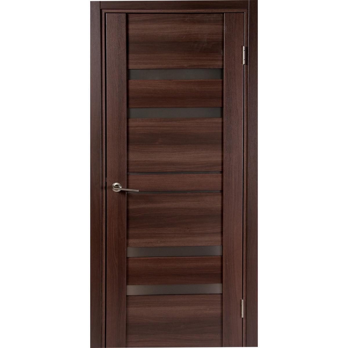 Дверь Межкомнатная Глухая Artens Велдон 60x200 Цвет Мокко/Бронза