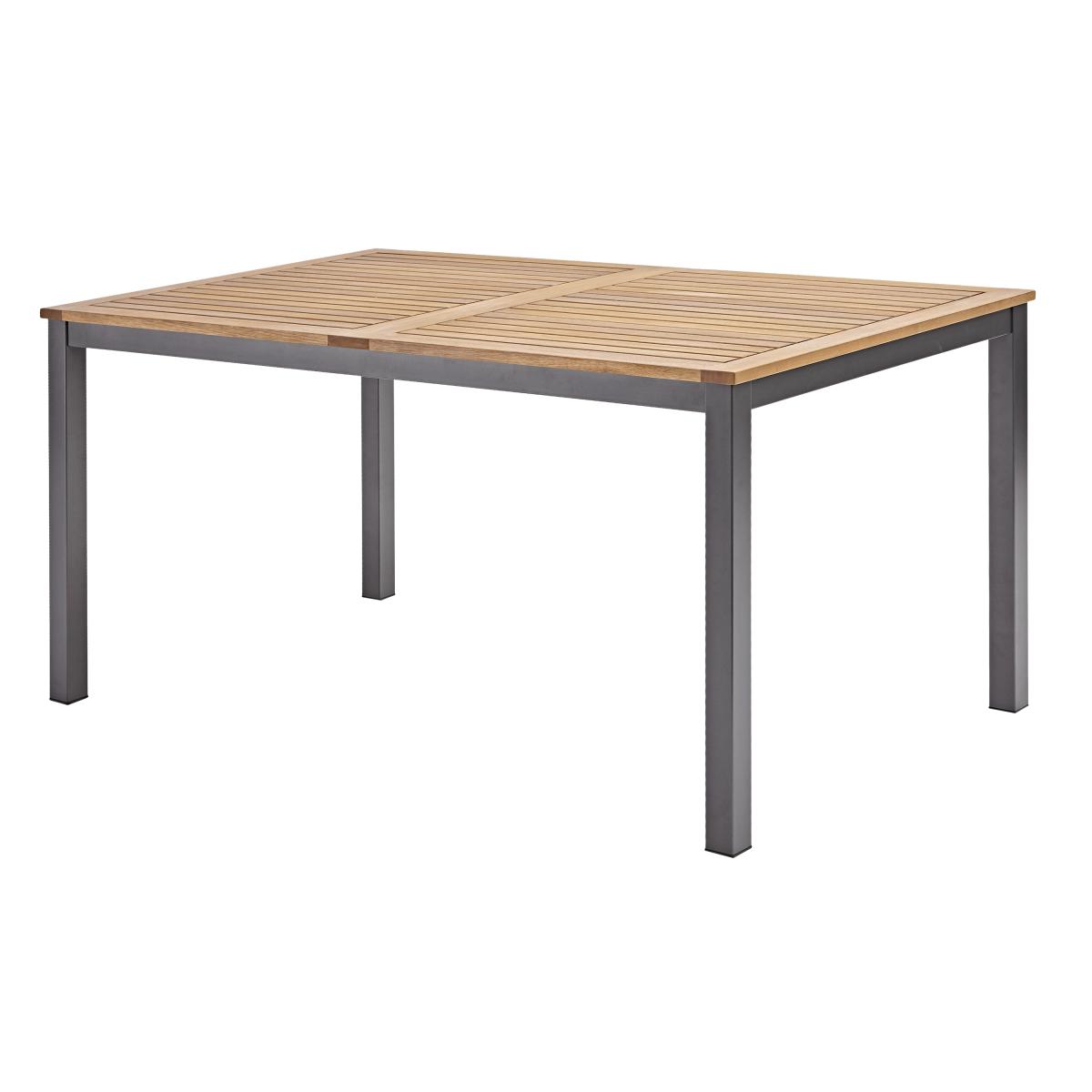 Стол садовый Naterial Oris 150x89х74.6 см алюминий/эвкалипт светло-коричневый