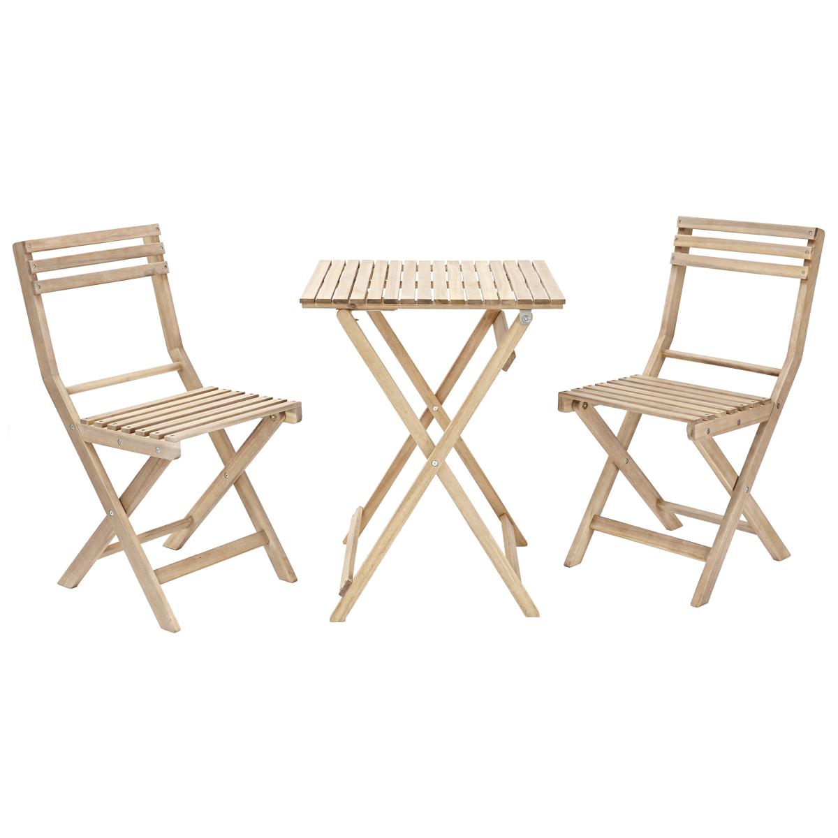 Набор садовой мебели Naterial Origami складной акация стол и 2 стула