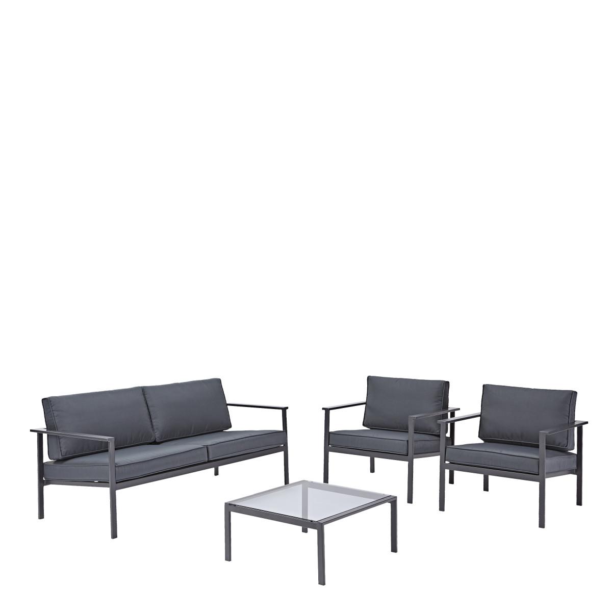 Набор садовой мебели Trino цвет темно-серый
