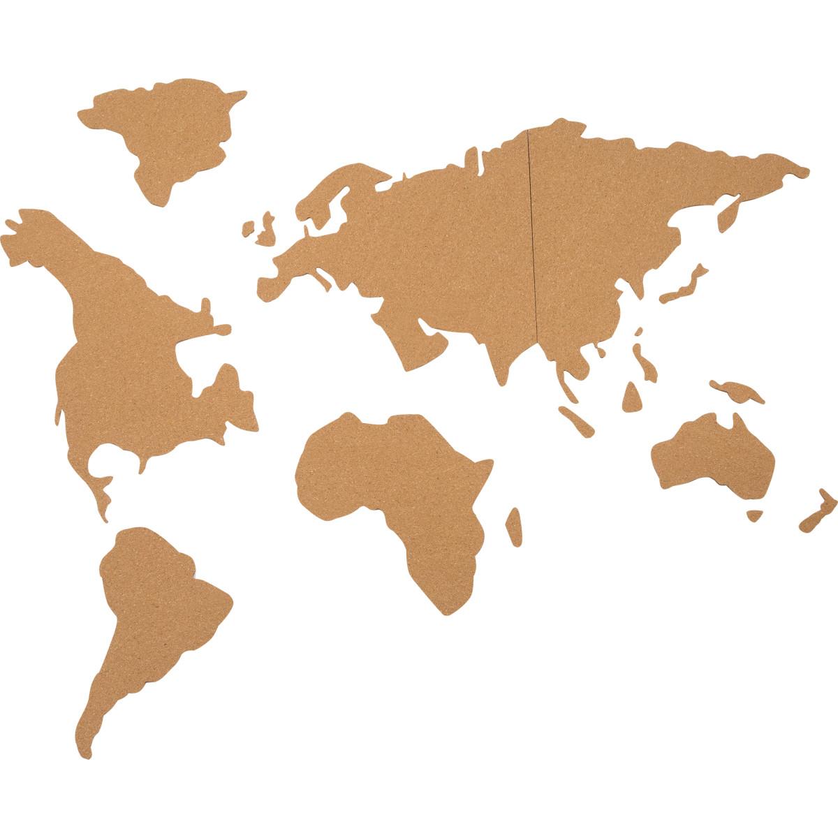 Доска пробковая «Карта мира Пазл» 90х40