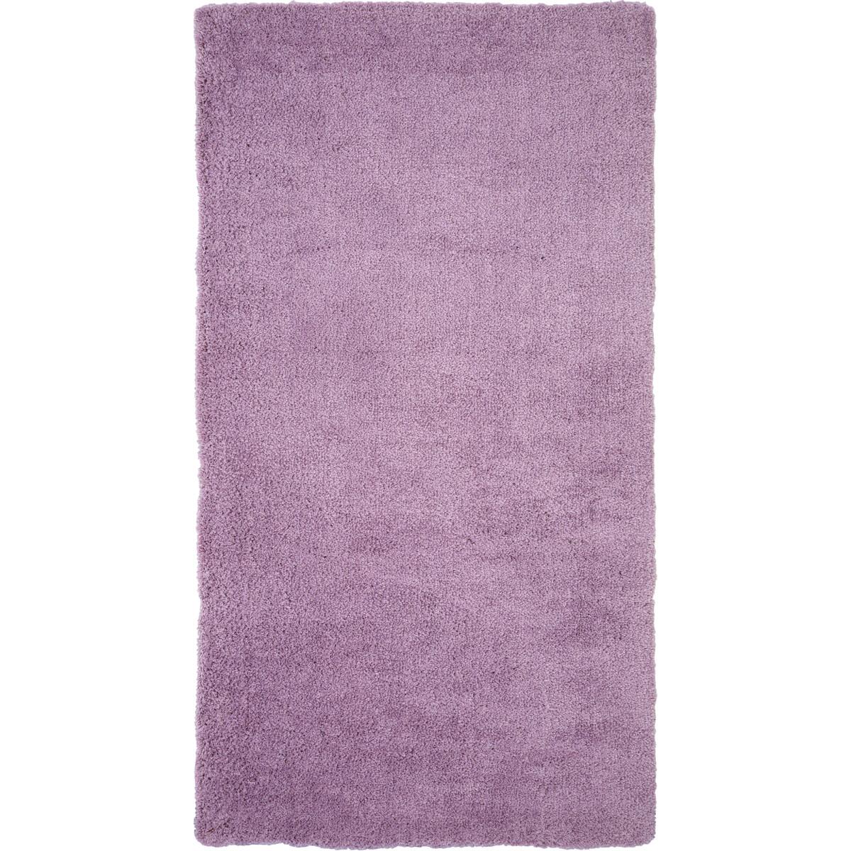 Ковер Лаванда 0.8x1.5 м цвет фиолетовый