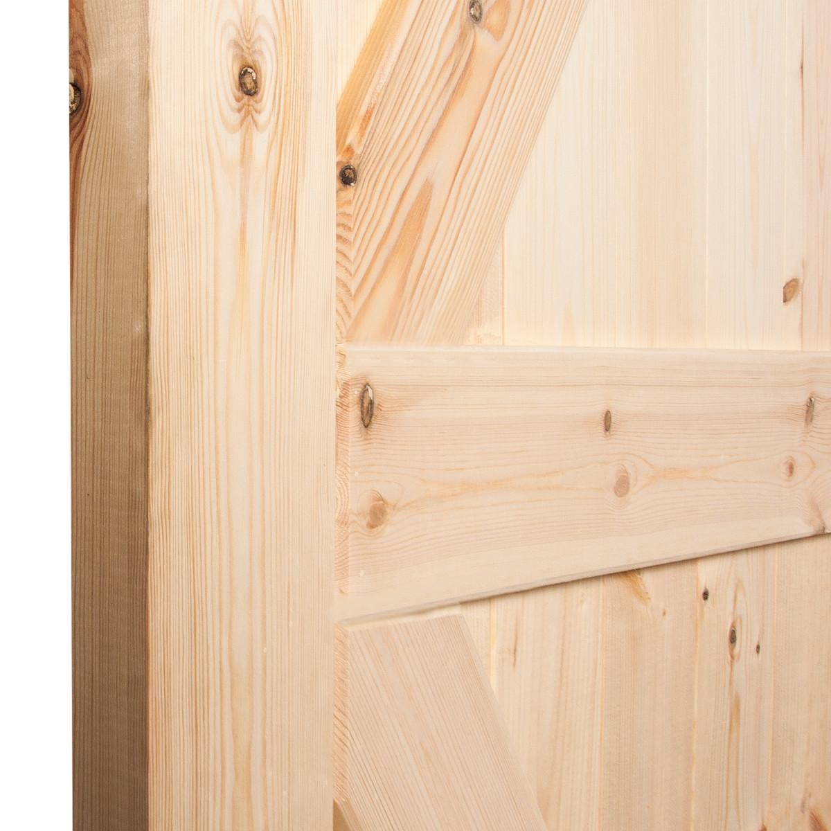 Дверь Межкомнатная Глухая Амбарная 90Х200 Массив Сосны