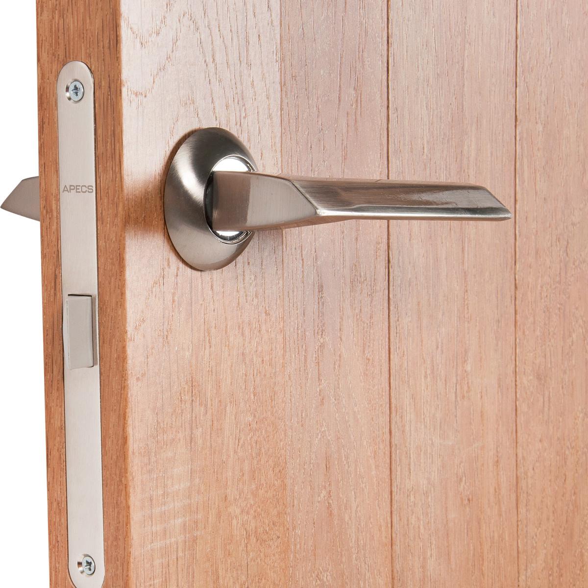 Дверь Межкомнатная Глухая Кантри 80x200 Пвх Цвет Дуб Арагон С Фурнитурой