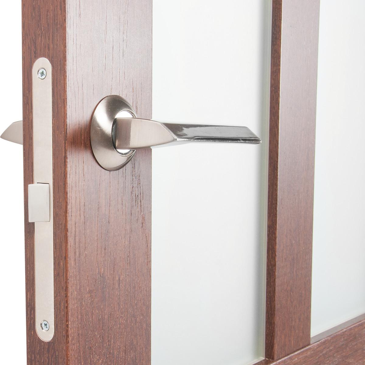 Дверь Межкомнатная Остеклённая Кантри 70x200 Пвх Цвет Дуб Сан-Томе С Фурнитурой