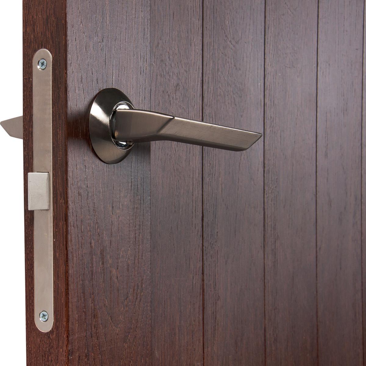 Дверь Межкомнатная Глухая Кантри 80x200 Пвх Цвет Дуб Сан-Томе С Фурнитурой