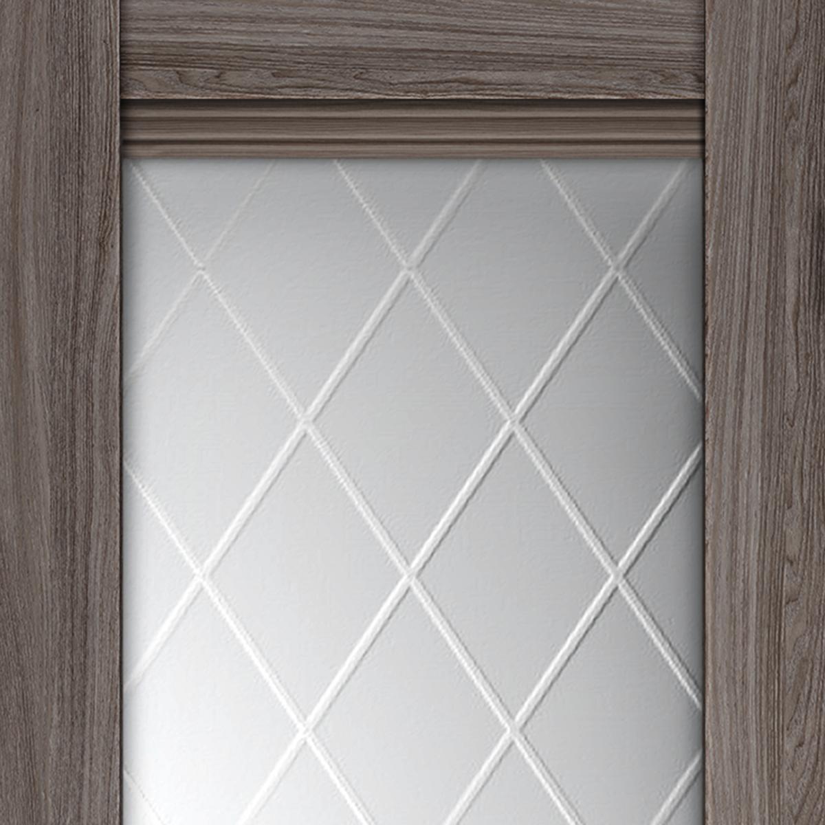 Дверь межкомнатная остеклённая с замком и петлями в комплекте «Тоскана» 70x200 см цвет ясень анкор