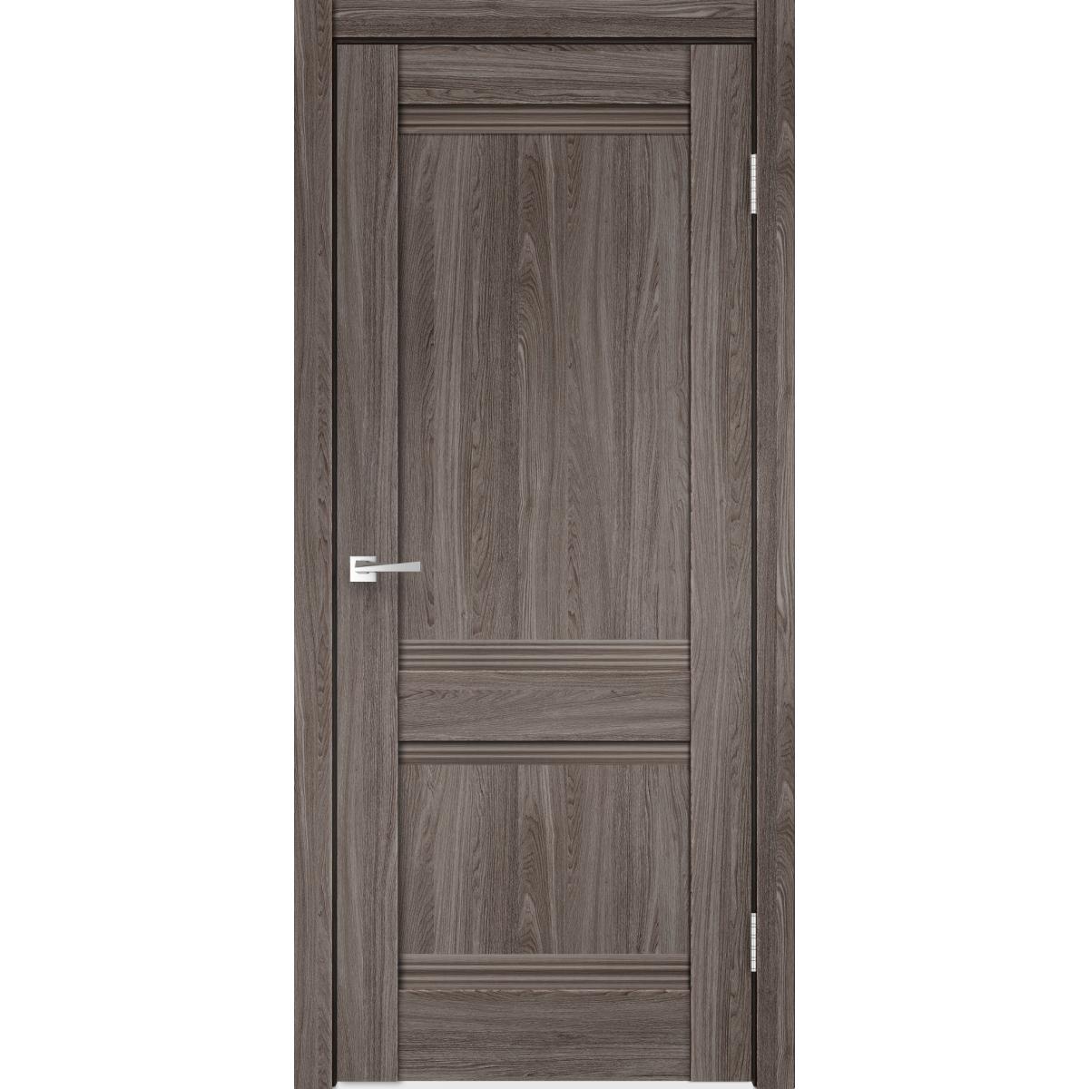 Дверь Межкомнатная Глухая С Замком И Петлями В Комплекте «Тоскана» 80x200 Цвет Ясень Анкор