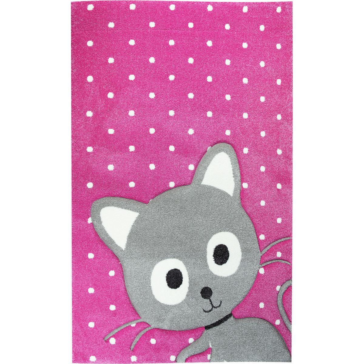 Ковёр Art Kids 78RVR 1.2x1.7 м цвет розовый