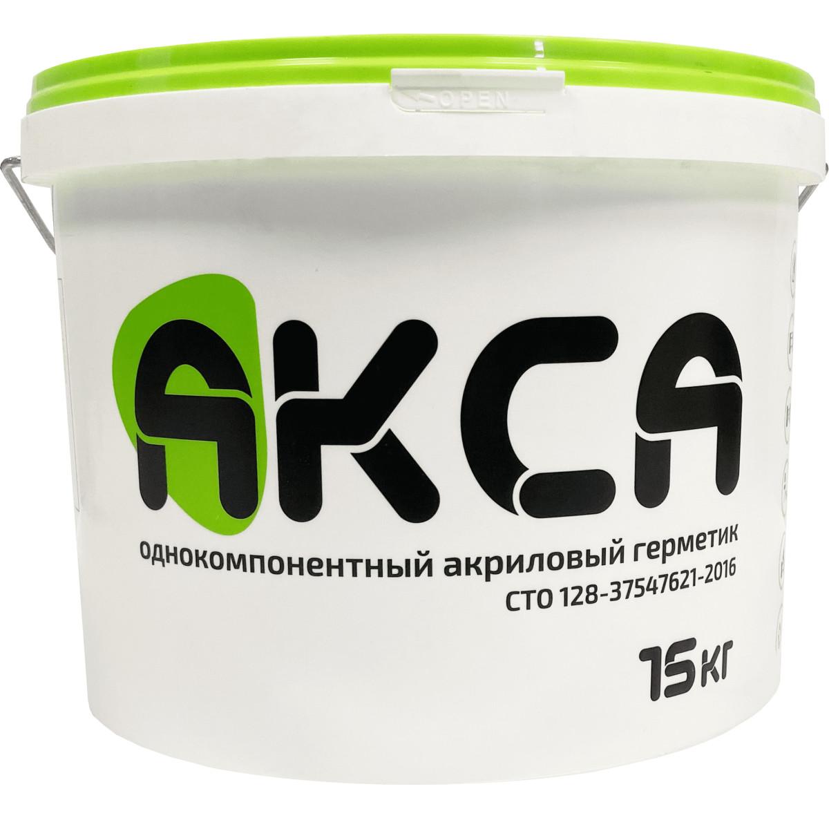 Герметик для стыков Акса цвет белый 15 кг