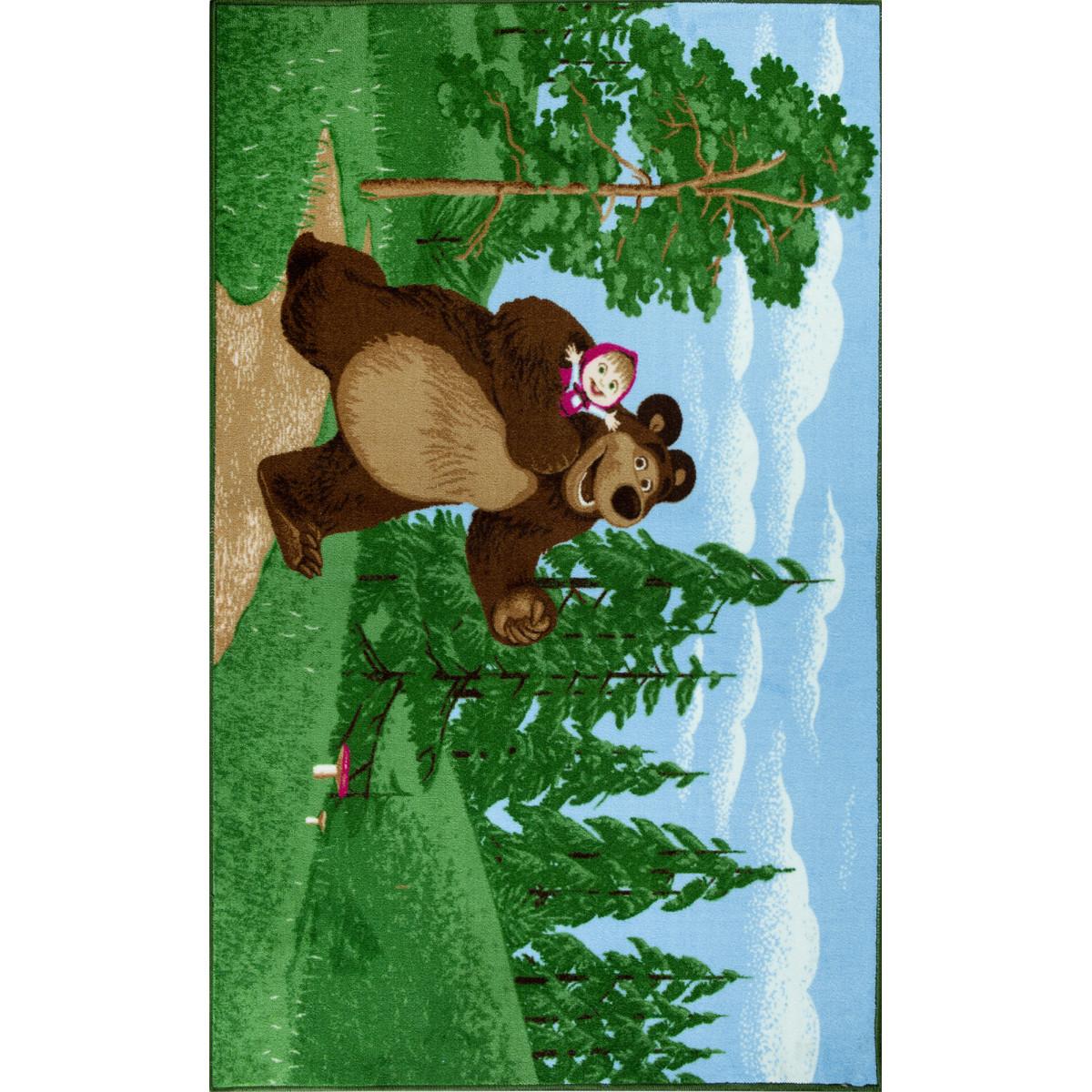 Ковер Маша и Медведь в лесу 1х1.5 м
